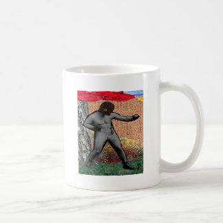 War & Peace & The Narcissist(Surrealist Collage) Coffee Mug