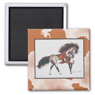 war pony 2 inch square magnet
