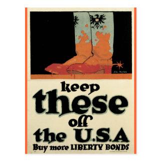 War Postcards, Vintage Liberty Bonds poster