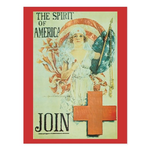 War Postcards, Vintage Red Cross
