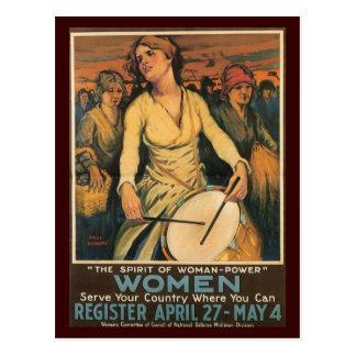 War Postcards, Vintage USA - Women Postcard