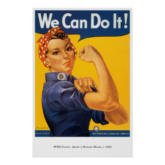 War-Poster-30: Rosie The Riveter