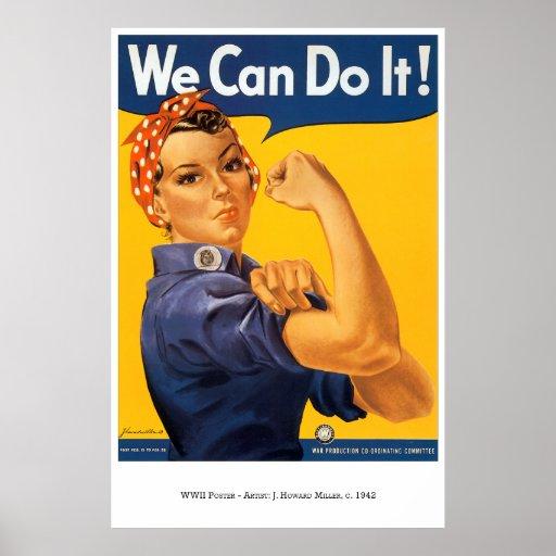 War-Poster-30: Rosie The Riveter