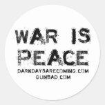 War Round Sticker