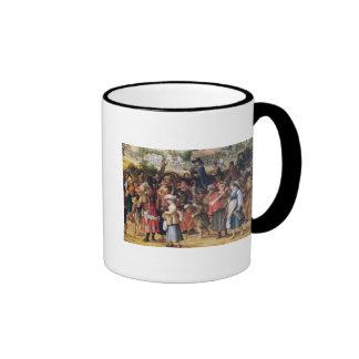 War Scene Ringer Coffee Mug