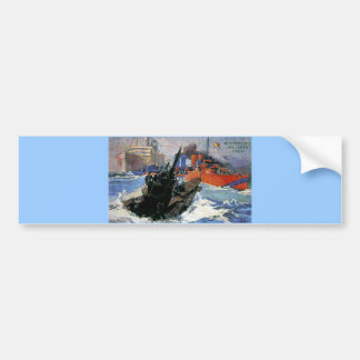War Sea Ship Submarine poster Bumper Sticker