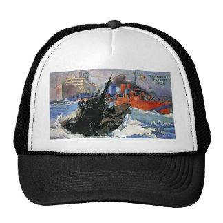 War Sea Ship Submarine poster Trucker Hat