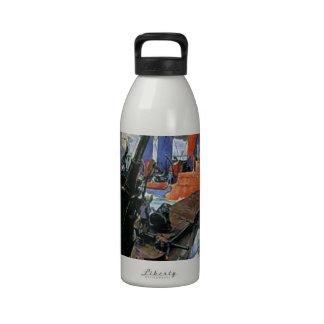 War Sea Ship Submarine poster Drinking Bottle