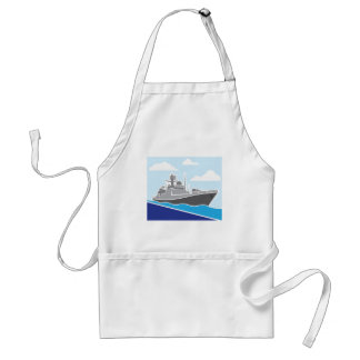 War Ship Adult Apron