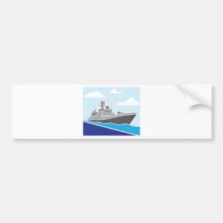 War Ship Bumper Sticker