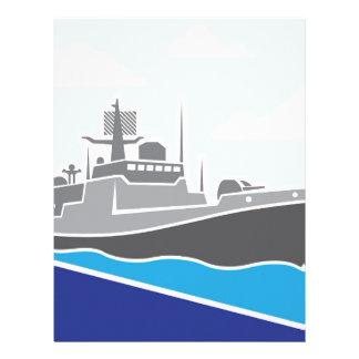 War Ship Letterhead