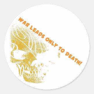 War Skull 2 Classic Round Sticker