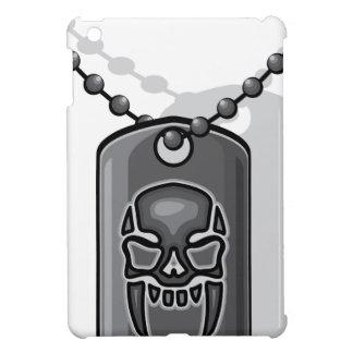 War skull dog tag cover for the iPad mini