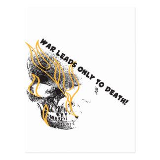 War Skull Postcard
