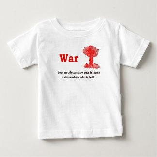 War Slogan In Black Letters Shirt