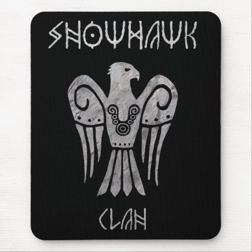 War tarnished Snowhawk Runic mousepad