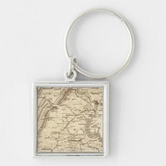 War Telegram Marking Map Keychain