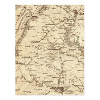 War Telegram Marking Map Postcard