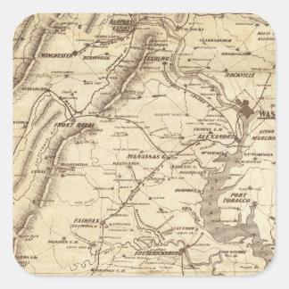 War Telegram Marking Map Square Sticker
