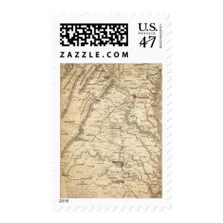 War Telegram Marking Map Stamp