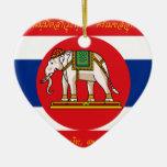 War Thailand (World War I-Obverse), Thailand flag Christmas Tree Ornaments