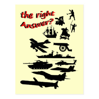 War - The Right Answer? Postcard
