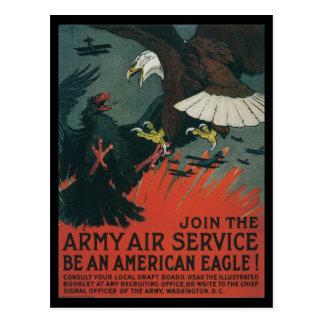 War Time Postcards American Eagles