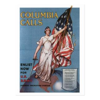 War Time Postcards, U.S. Army Vintage poster