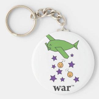 War(TM) Green Bomber Plane Basic Round Button Keychain