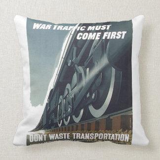 War Traffic Must Come First WW-2 Throw Pillow
