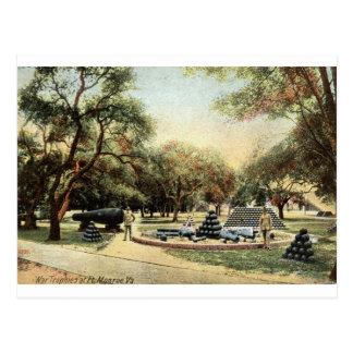 War Trophies, Ft. Monroe Virginia 1914 Vintage Postcard