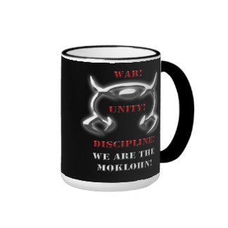 War! Unity! Discipline! (Black Gear) Ringer Coffee Mug