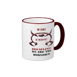 War! Unity! Discipline! (White) Ringer Coffee Mug