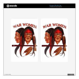 War Women Kindle Fire Decal