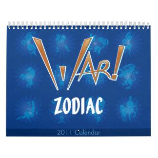 War! Zodiac Calendar