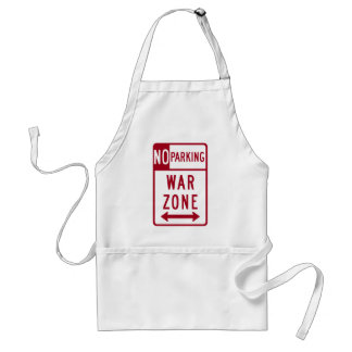 War Zone, No Parking Highway Sign Aprons