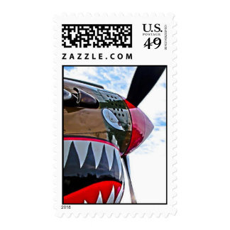 Warbird Plane Nose Art Stamps