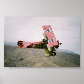Warbirds clásico: Triplano de Fokker Dr1 Poster