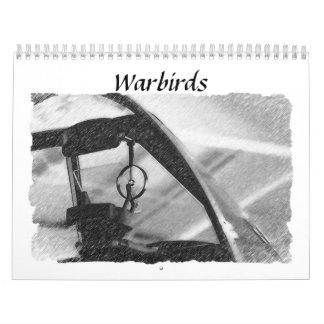 Warbirds de la Segunda Guerra Mundial Calendarios De Pared