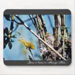 Warbler and Nest Mouse Pad