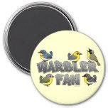 Warbler Fan 3 Inch Round Magnet
