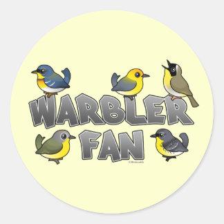 Warbler Fan Classic Round Sticker