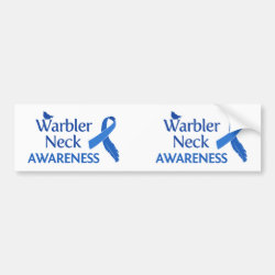 Bumper Sticker with Warbler Neck Awareness design