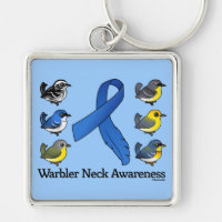 Warbler Neck Awareness Premium Square Keychain