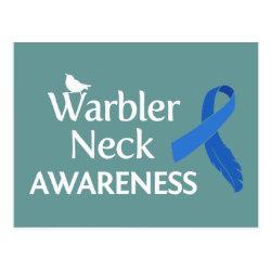 Postcard with Warbler Neck Awareness design