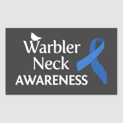 Rectangle Sticker with Warbler Neck Awareness design