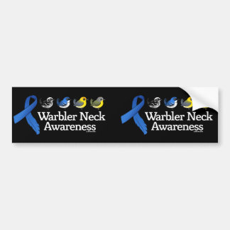 Warbler Neck Awareness Ribbon Bumper Sticker