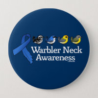Warbler Neck Awareness Ribbon Round Button