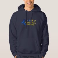 Warbler Neck Awareness Ribbon Men's Basic Hooded Sweatshirt