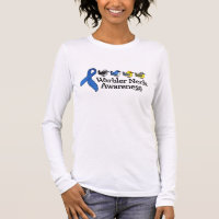 Warbler Neck Awareness Ribbon Women's Basic Long Sleeve T-Shirt